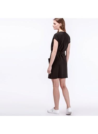 Lacoste Önden Düğmeli Kısa Elbise Siyah